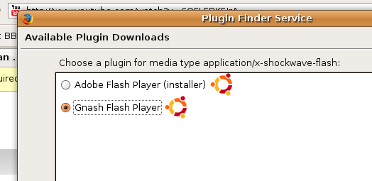 Choose flash plugin